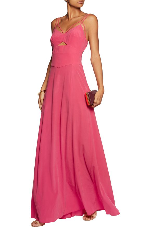 Elsa cutout stretch-silk gown | L'AGENCE | Sale up to 70% off | THE OUTNET