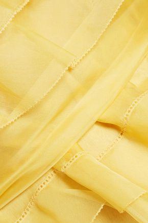 ヴァレンティノ ティアード 装飾付き シルクジョーゼット ミニワンピース