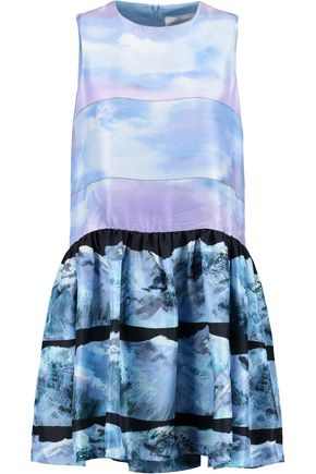 VICTORIA, VICTORIA BECKHAM Printed silk mini dress