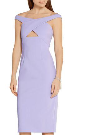 CUSHNIE ET OCHS Off-the-shoulder cutout neoprene dress