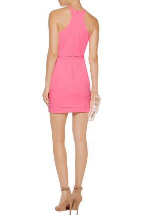 ELIZABETH AND JAMES Reeves pointelle-trimmed cady mini dress