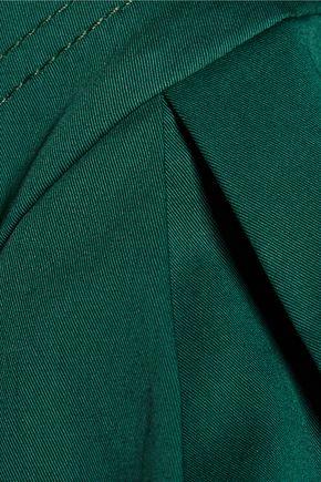 OSCAR DE LA RENTA Stretch-cotton twill top