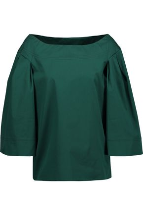 OSCAR DE LA RENTA Stretch-cotton twill top