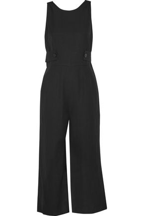 DEREK LAM 10 CROSBY Cropped crepe jumpsuit