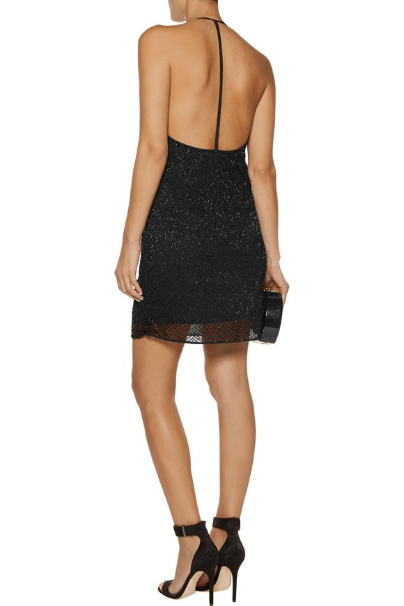 Kora beaded crepe de chine mini dress | W118 by WALTER BAKER | Sale up to 70%  off | THE OUTNET