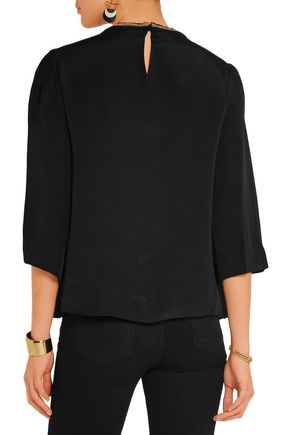ISABEL MARANT Roma embroidered silk blouse