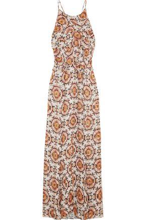 L'AGENCE Adriana ruffle-trimmed printed silk-chiffon gown