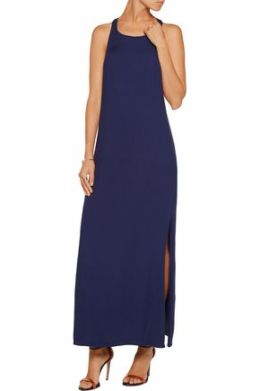 ALICE + OLIVIA Roxane cutout crepe de chine maxi dress