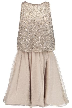 ALICE + OLIVIA Embellished tulle mini dress