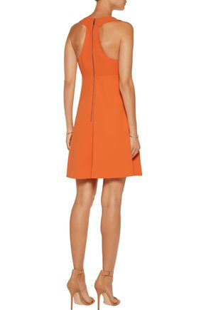 ALICE + OLIVIA Dina cutout crepe mini dress