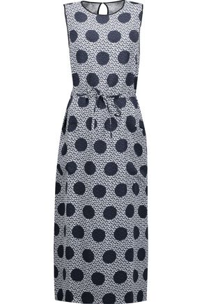 MOTHER OF PEARL Olivia printed silk midi dress