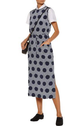 MOTHER OF PEARL Olivia printed silk midi dress
