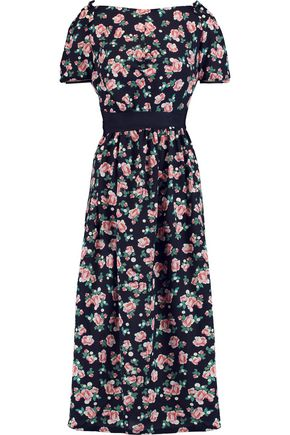 MOTHER OF PEARL Zoe open-back floral-print silk-crepe midi dress