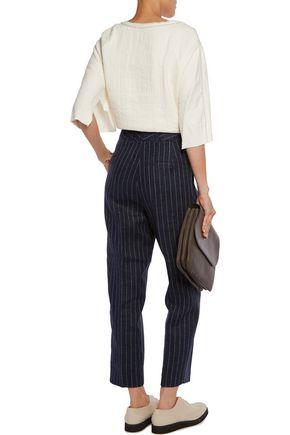 3.1 PHILLIP LIM Frayed linen-blend top