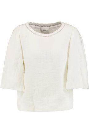 3.1 PHILLIP LIM Frayed linen-blend top