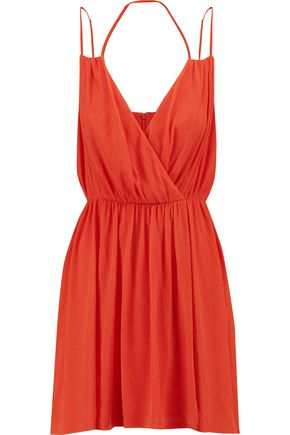 REBECCA MINKOFF Porta crinkled-crepe mini dress