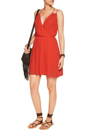 REBECCA MINKOFF Porta crinkled-crepe mini dress