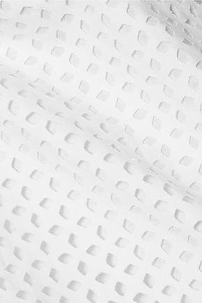 TIBI Laser-cut cotton top