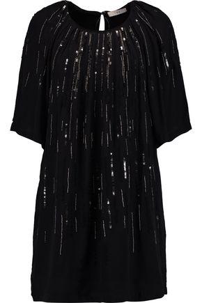 IRO Betita embellished crepe de chine mini dress