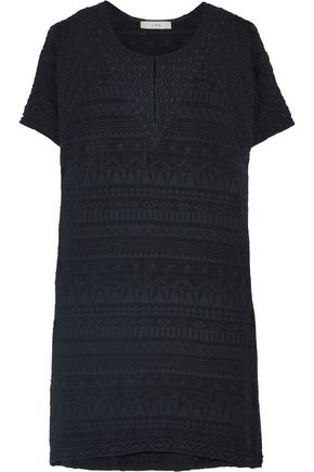 IRO Belzer embroidered voile mini dress
