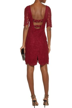 MIKAEL AGHAL Embellished corded lace dress