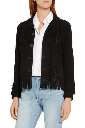 SAINT LAURENT Curtis fringed suede jacket