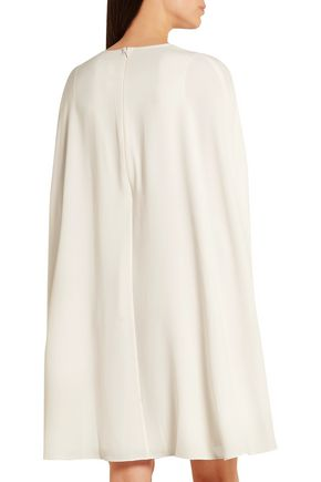 CO Cape-back crepe dress