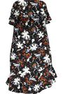 A.L.C. Romy ruffled printed silk crepe de chine mini dress