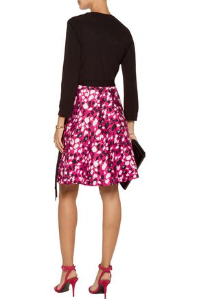 DIANE VON FURSTENBERG Amelia printed crepe wrap mini dress