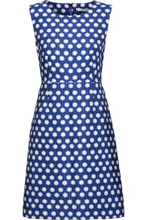 DIANE VON FURSTENBERG Carrie printed crepe mini dress