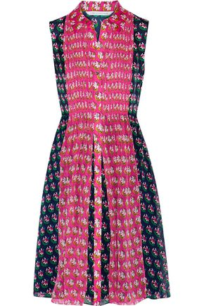 DIANE VON FURSTENBERG Nieves printed faille and chiffon dress