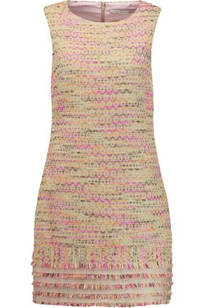 DIANE VON FURSTENBERG Merlyn metallic tweed mini dress