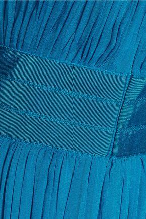 DIANE VON FURSTENBERG Ophelia one-shoulder ruched silk gown