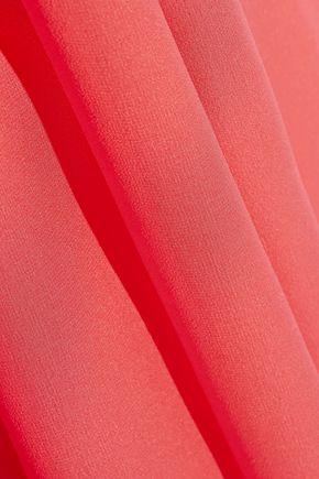 DIANE VON FURSTENBERG Lelani grosgrain-trimmed silk-chiffon gown