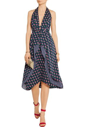 DIANE VON FURSTENBERG Leyland floral-print stretch-silk dress