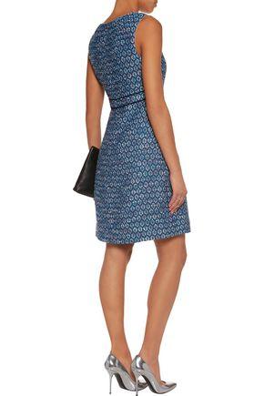 DIANE VON FURSTENBERG Leelou intarsia-knit cotton-blend dress