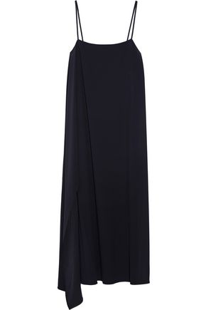 HELMUT LANG Asymmetric crepe midi slip dress