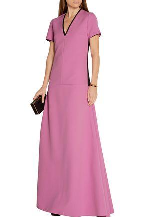 ROKSANDA Two-tone crepe maxi dress