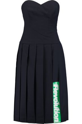 MARC BY MARC JACOBS Pleated printed wool dress