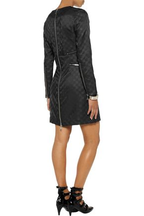 MARC BY MARC JACOBS Zip-embellished faille mini dress