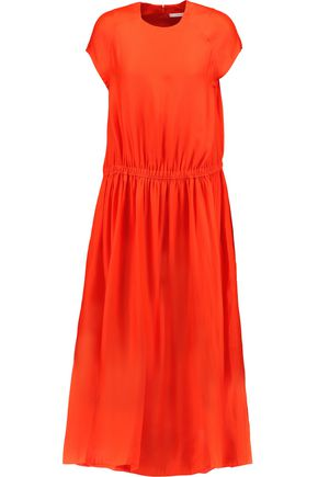 CARVEN Silk-blend midi dress