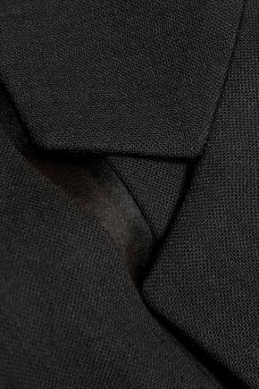 JASON WU Silk-organza paneled wool blazer