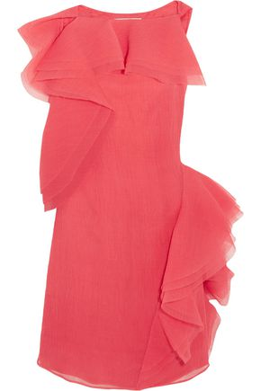 JASON WU Ruffled crinkled silk-blend organza dress