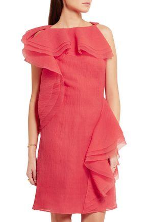 JASON WU Ruffled crinkled silk-blend organza dress