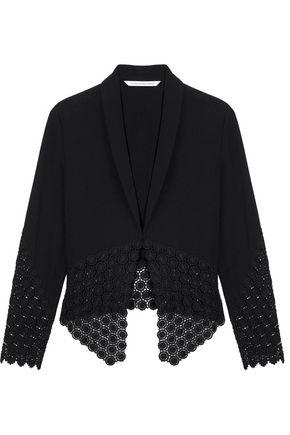 DIANE VON FURSTENBERG Castilla guipure-paneled crepe jacket