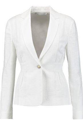 DIANE VON FURSTENBERG Gavyn stretch-cotton cloqué blazer