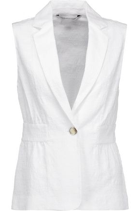 DIANE VON FURSTENBERG Gavyn flocked stretch-cotton gilet