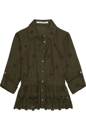 DIANE VON FURSTENBERG Ivanka broderie anglaise embroidered cotton-blend top