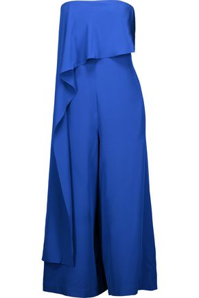 TIBI Draped silk jumpsuit
