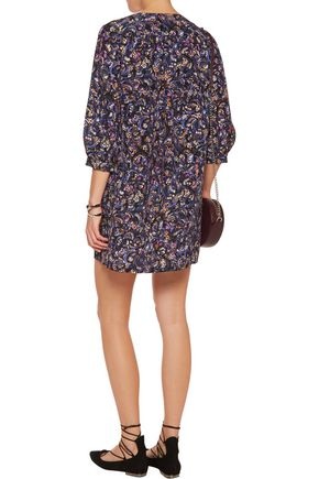 SALONI Gigi printed silk-chiffon mini dress